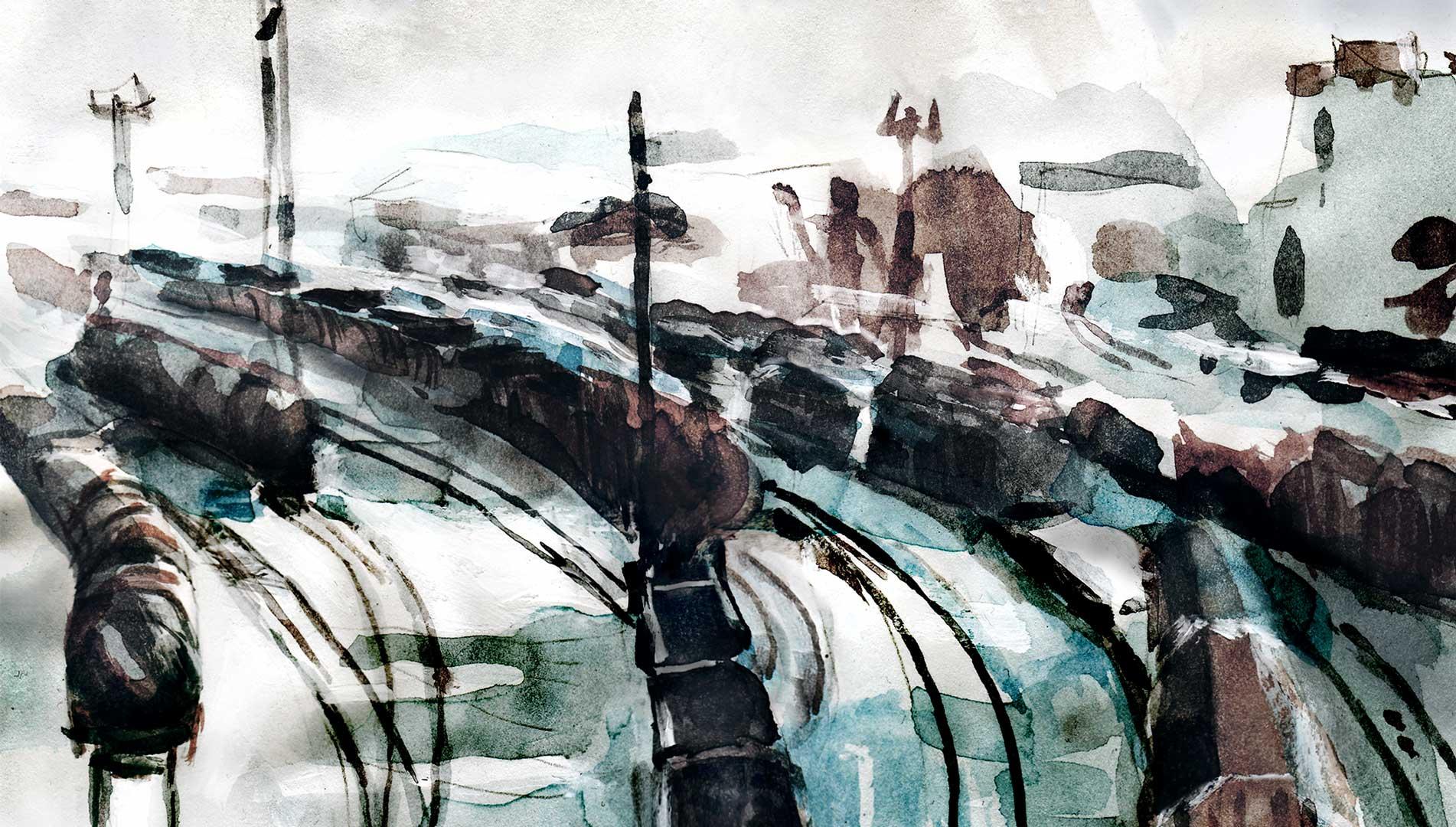closeup-trains